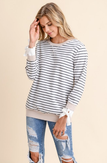 Stripes & Bows Top
