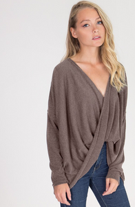 Criss Cross Sweater - Toffee