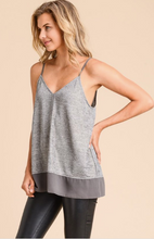 All Night Cami - Grey Trim