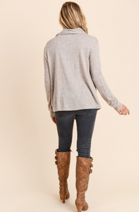 Layne Cowel Neck Wrap Sweater