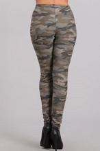 Camo Sweatpants with Black Detail