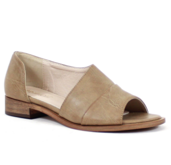 Open Toe Summer Slides - Taupe