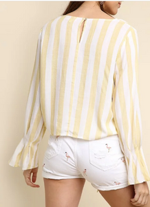 Pale Yellow Striped Top