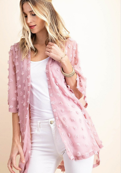 Pink Sugar Ball Chiffon Cardigan