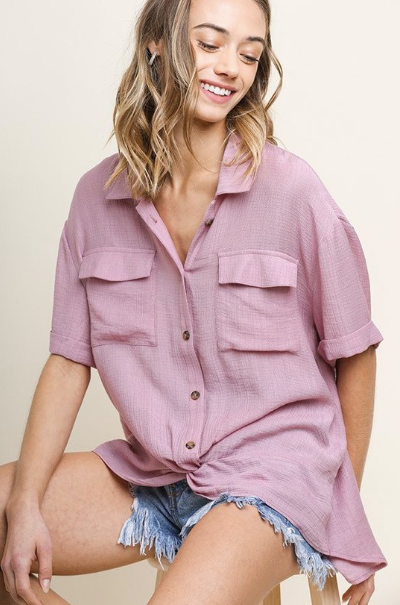 Mauve Knotted Top