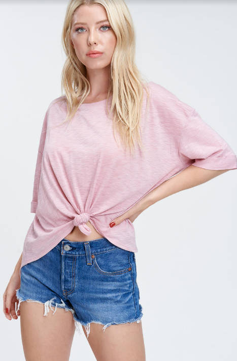 Pink Tie-Up Summer Top