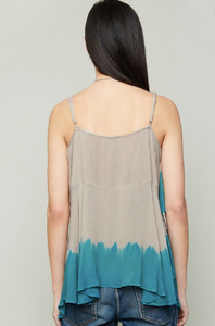 Dip-Dye Flowy Top - Emerald