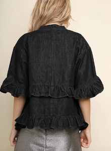 Ruffle & Denim Jacket