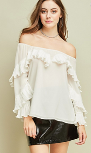 Ruffles & Cream Off the Shoulder