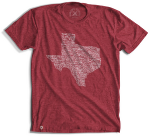 Texas Towns Tee - Red