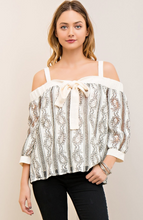 Crochet Open Shoulder Top - Ivory