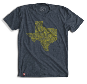 Texas Towns Tee - Grey