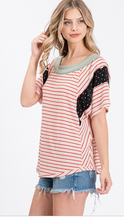 Red Stripe Mix & Match Top