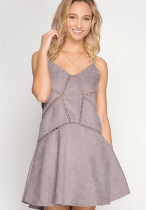 Cami Corduroy Dress - Grey