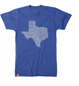 Texas Towns Tee - Blue