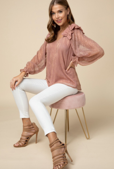 Pink Tinsel Blouse