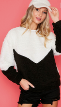 Color Block Sherpa Sweater - Various Colors