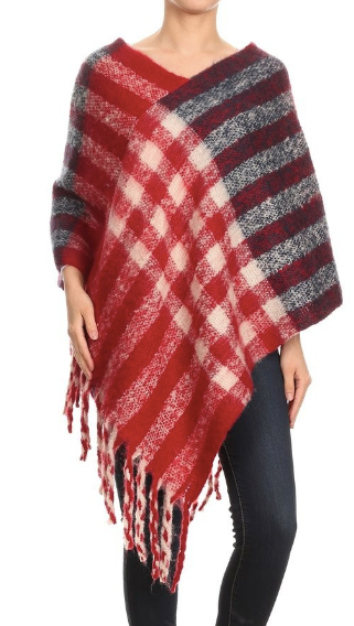Checker Poncho - Various Colors