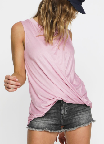 Twist Knot Front Basic - Pink