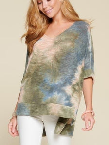 Tie-Dye Light Knit Sweater