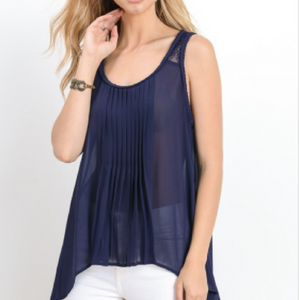 The Delilah Top - Navy or Army Green