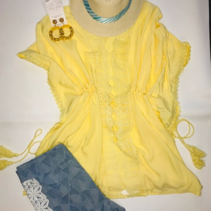 Swimsuit Cover Up - Yellow