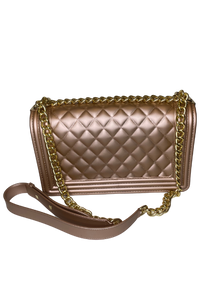 Chanel Inspired Classic Bag in Rose Gold