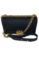 Chanel Inspired Classic Bag in On the Rocks Onyx