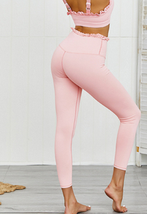 Let's Tango Ruffle Workout Leggings