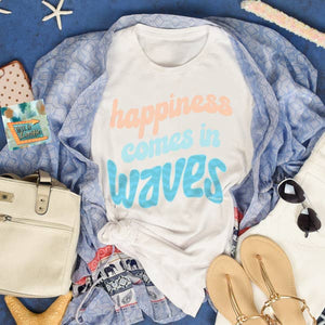 Happiness Comes in Waves - White