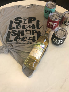 Sip Local Tumbler & Sip Local Tee + FREE Messina Hoff Serenity White Blend
