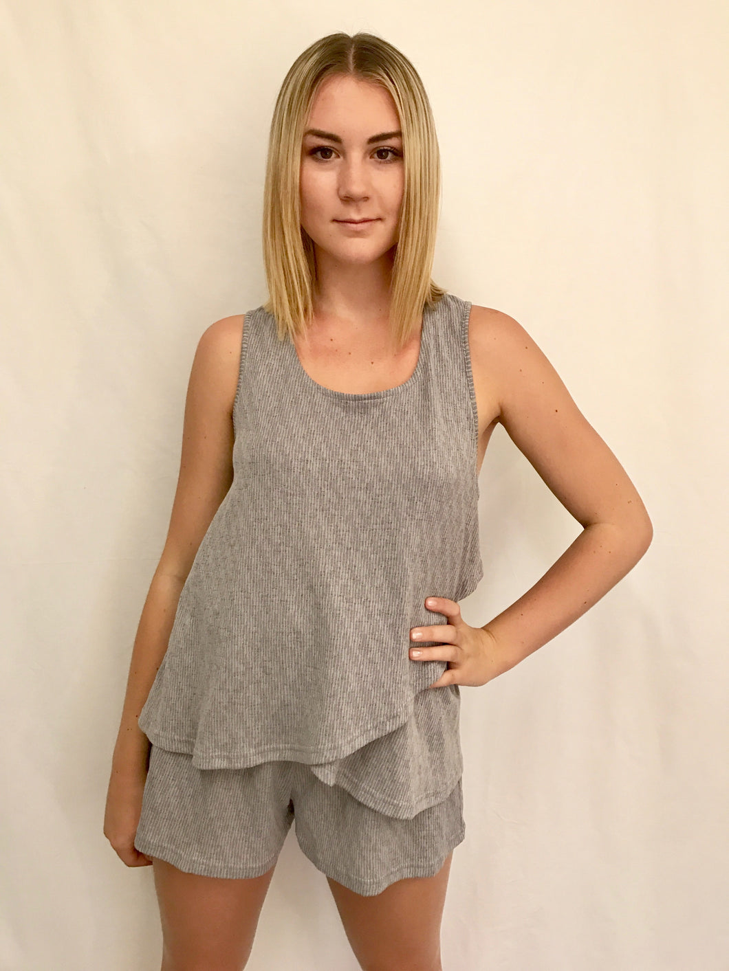 Cool Grey Romper