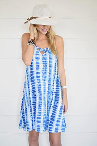 Cali-Love Tie-Dye Dress in Blue