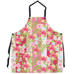 Classic Pink Floral Apron-Cocco Pazzo™