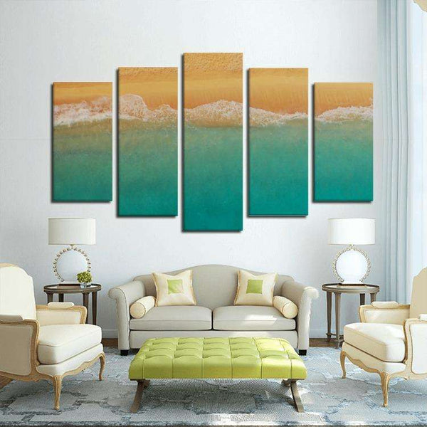 Beach Canvas 5 Panel Custom Wall Art