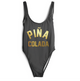 Pina Colada One Piece Open Back Swimsuit-Cocco Pazzo™
