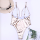Ultra Metallic Foil Bandage One Piece Swimsuit-Cocco Pazzo™