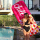 Pink Chill Pill Raft Pool Float Lounger