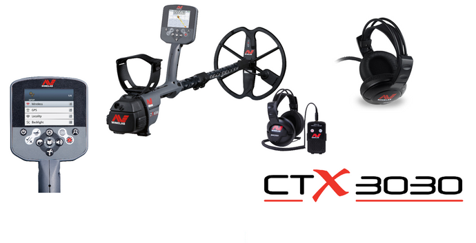 Minelab CTX 3030, waterproof metal detector