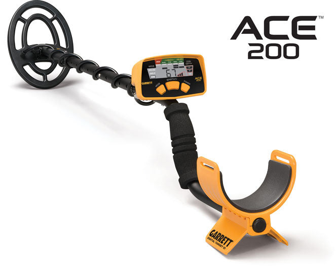 Garrett ACE 200 metal detector Chicago metal detecting easy to use low cost powerful treasure hunting metal detector. Lightweight find coins treasure rent buy
