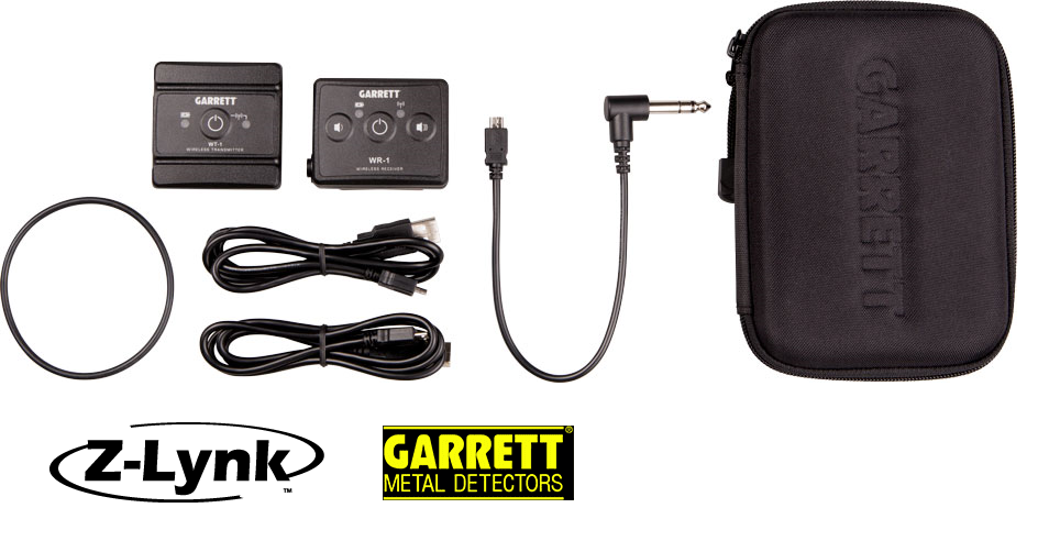 Garrett Z-Lynk wireless audio system for metal detecting Chicago metal detecting easy to use powerful pinpointer. Lightweight find coins treasure rent buy
