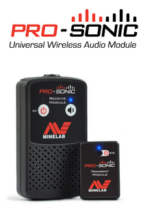 Minelab PRO-SONIC wireless audio system for metal detecting Chicago metal detecting easy to use powerful and flexible. Lightweight find coins treasure rent buy