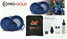 Minelab PRO-GOLD gold panning kit. Two pans, classifier. Pan for gold nuggets small gold Chicago easy to use Lightweight find gold rent buy