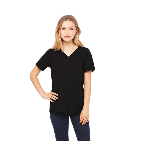Women Short Sleeve V-Neck Tee (Premium extra soft)