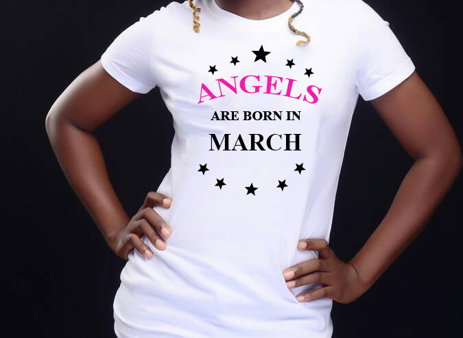 Angels are born in March (Women Favorite Tee Extra Soft )