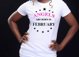 Angels are born in February (Women Favorite Tee Extra Soft )