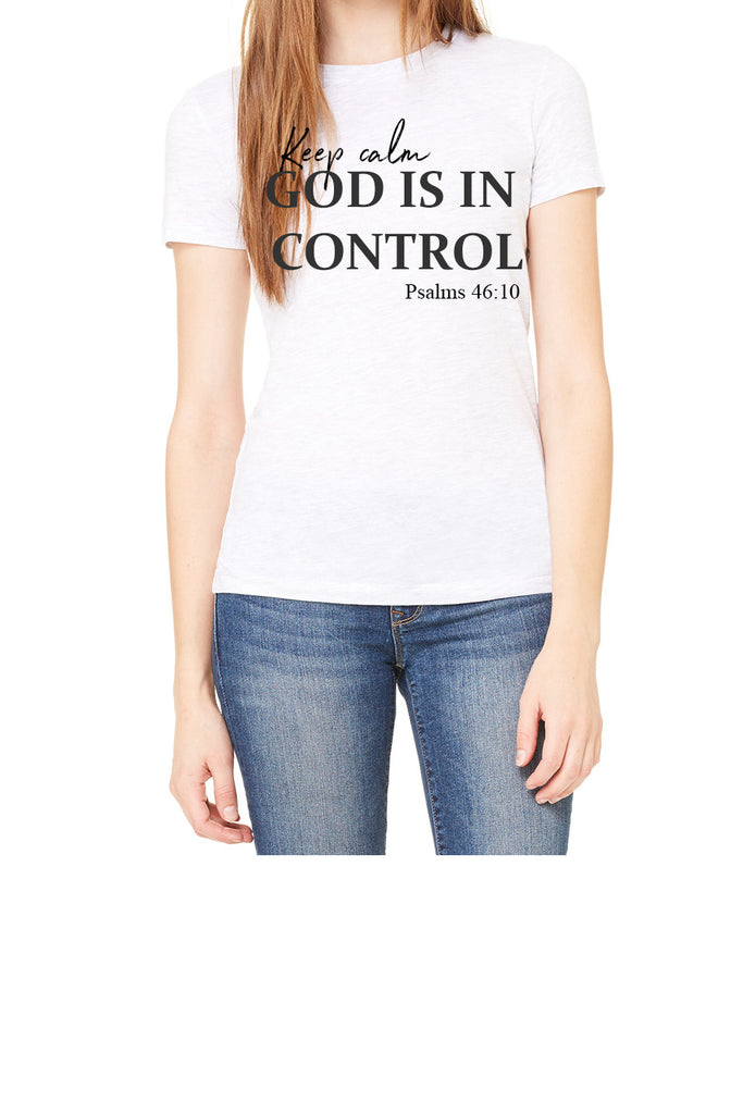 keep calm (Women Favorite Tee Extra Soft) white