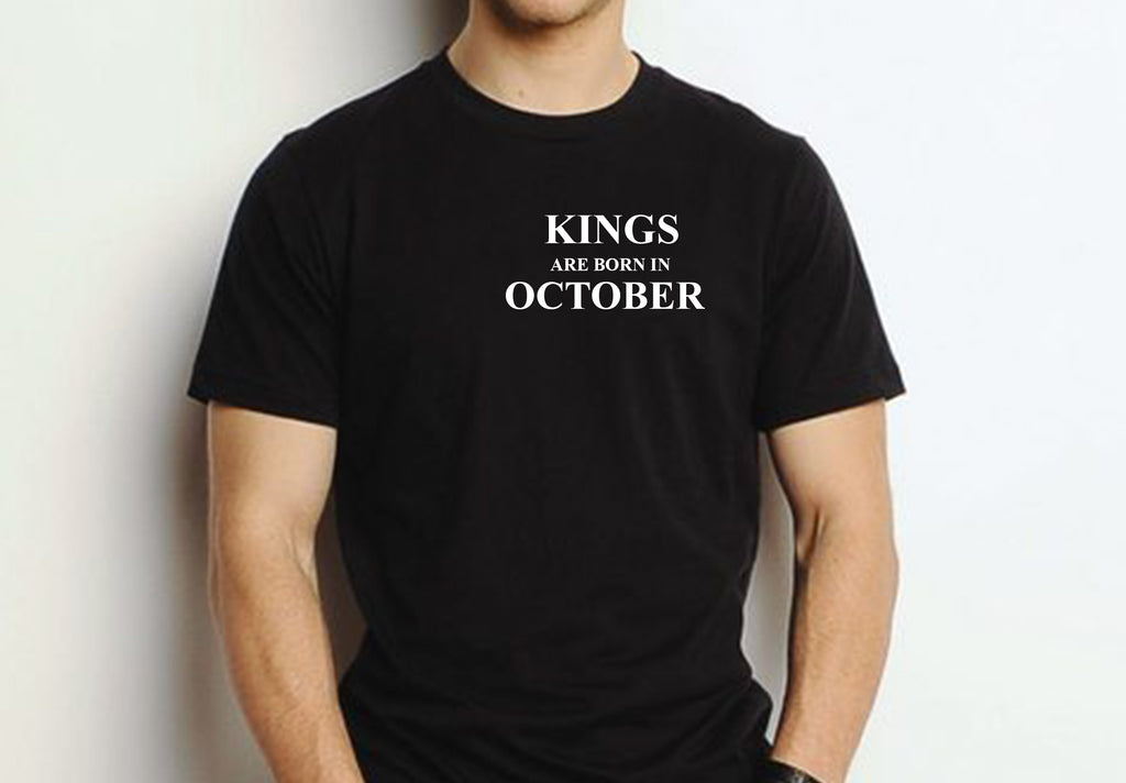 Kings are born in October (Unisex BC300) simple design