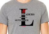 Leaders are born in September (Unisex BC300) Soft Premium  T-Shirt