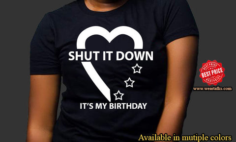 Shut it down birthday T-shirt